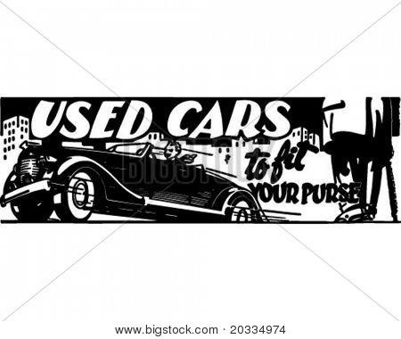 Used Cars 4 - Retro Ad Art Banner