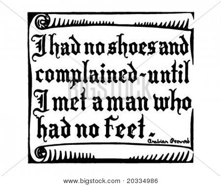 I Had No Shoes And Complained - Retro Ad Art Banner