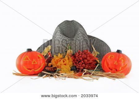 Hat And Pumpkins