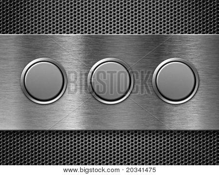 three buttons toolbar