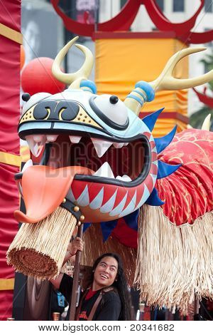 HOLLYWOOD, CA. - MAY 22: Performers open the premiere with a dragon dance at the Los Angeles premiere of Kung Fu Panda 2 at Grauman's Chinese  Theatre on May 22, 2011 in Hollywood, California.