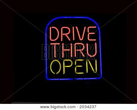Neon Drive Thru Sign