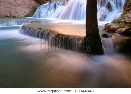Falls along Havasu Creek, Arizona