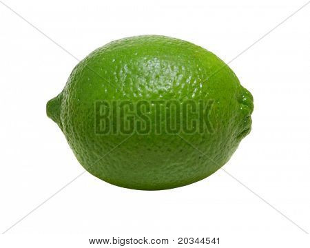 Green Lime isolated on pure white background (no shadow)