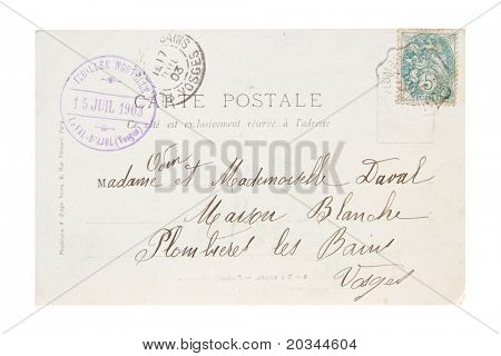 Old Stamp and Postcard from 1903