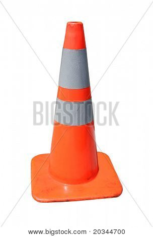 Traffic Cone isolated on pure white background