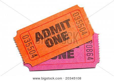 Dos admitir un billete aislado sobre fondo blanco puro