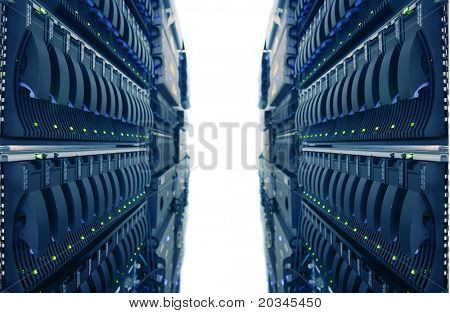 Estantes de la computadora en Internet Data Center
