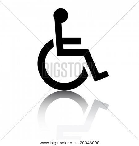 Disabled icon with glossy effect