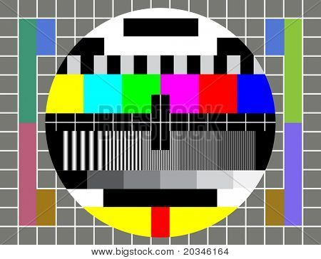 Test Pattern for TV