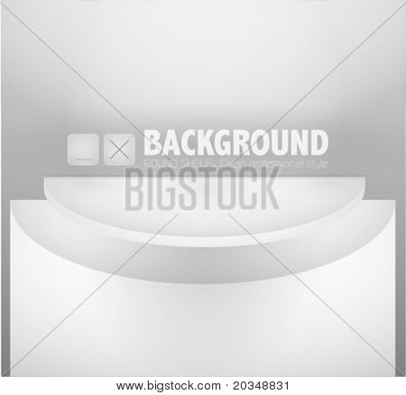 Wall with empty shelves, eps10 vector illustration