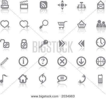 Sitio web y el conjunto de iconos de Internet