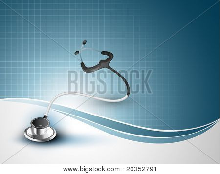 vector stethoscope illustration with space for your text