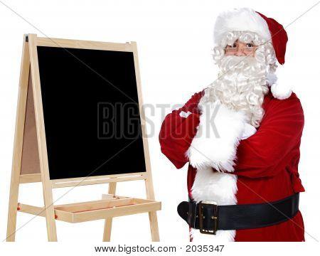 Santa Claus Whit Slate
