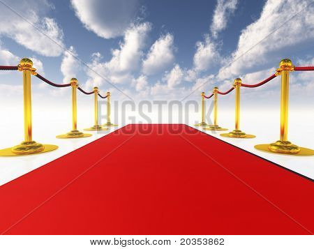 red carpet in open-space