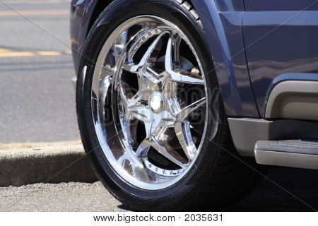 Chrome Wheel And Tire