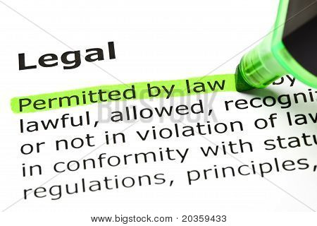 'permitted By Law', Under 'legal'