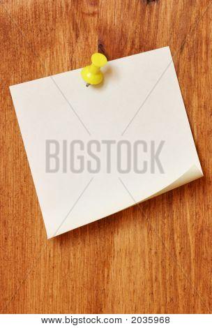 Single Blank Note Paper