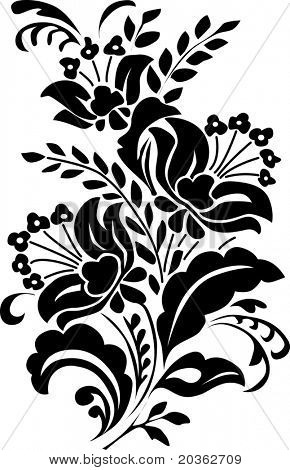 Ornamental flowers (vector)
