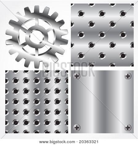 Nahtlose Metall Texturen und Ausrüstung