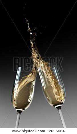 Tostado flautas de champán