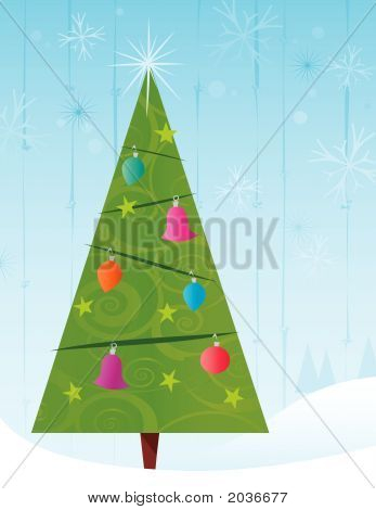Retro-Stylized Christmas Tree