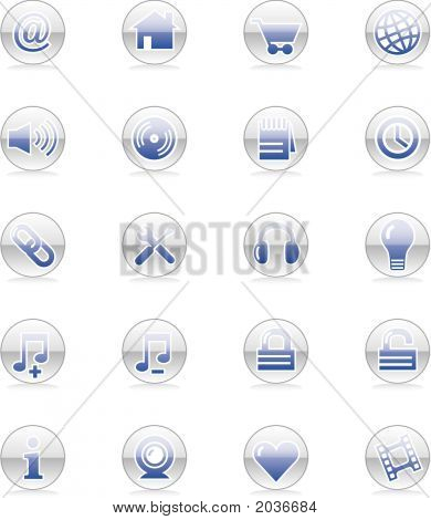 Web & Internet Icon Set (Vector)