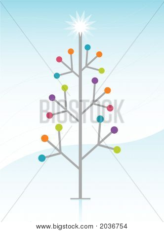 Retro-Modern Xmas Tree Winte