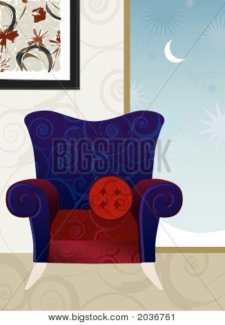 Velvet Armchair Winter Night