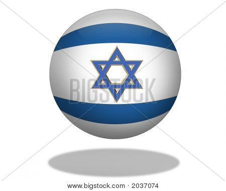 Flag Of Israel Orb