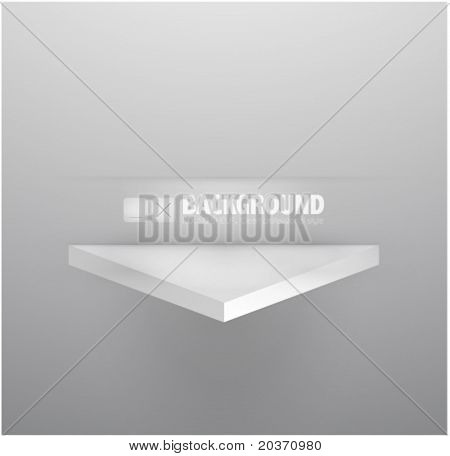 Empty shelf eps10 vector illustration