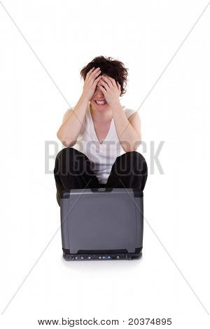 young woman stressed and frustrated