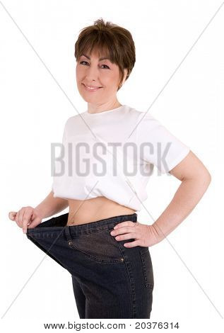 mature woman losing weight