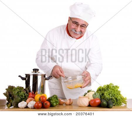 chef preparing the meal
