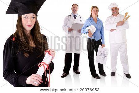 graduate university student choosing future occupation