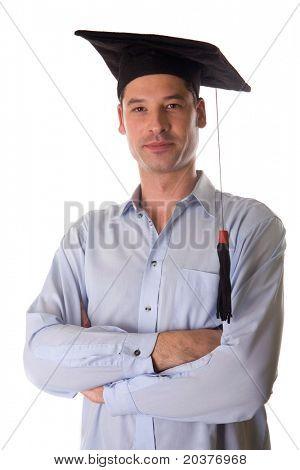 confident university graduate student