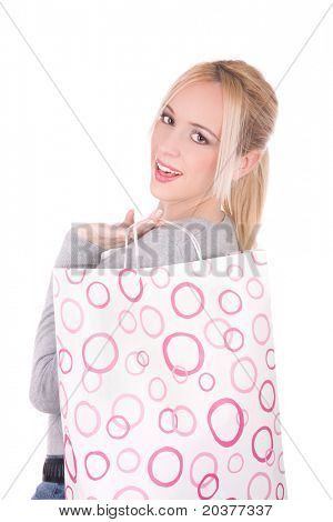 woman with a shopping bag