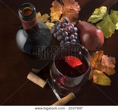 Wine Still Life, Autumn