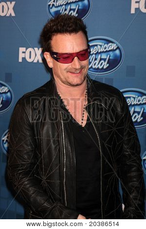 LOS ANGELES - MAY 25:  Bono. in the 2011 American Idol FInale Press Room at Nokia at LA Live on May 25, 2011 in Los Angeles, CA