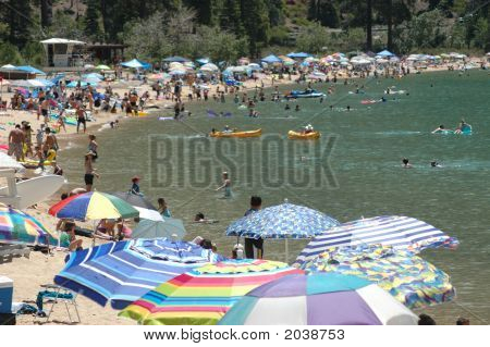 Beach At Sand Harbor