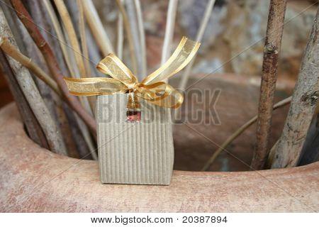 Confetti box on a wedding day