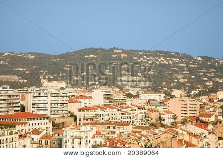 residential area in Cannes, France, EU