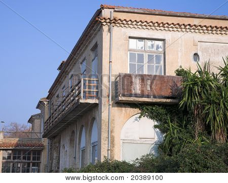 condemned for demolition house, Cannes, France