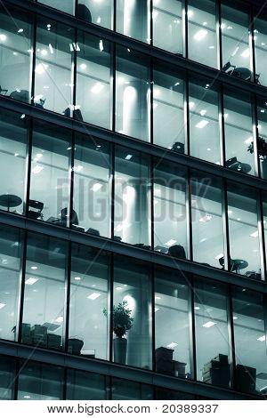 Glass multi-story building in London, Britain