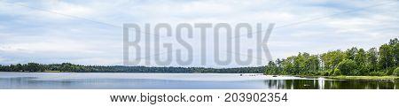 Panorama Landscape Of A Calm Lake
