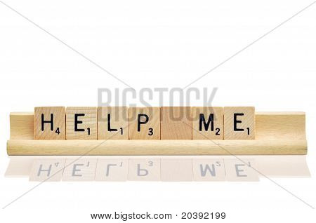 Help Me In Game Wooden Letters