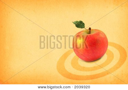 Red Apple On Paper