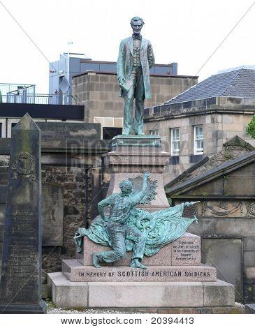 Memorial de la Guerra Civil americana en Edimburgo, Escocia