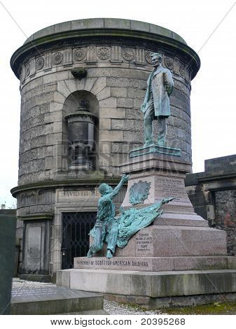 Abraham Lincoln and David Hume monuments