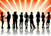 pic of party people  - Vector image of men and women at the party - JPG